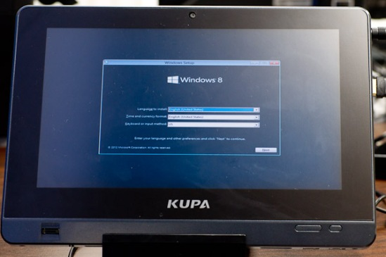 Kupa X11 Windows 8 Installation
