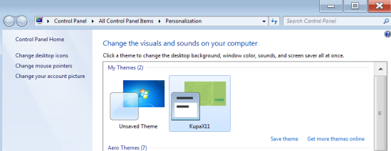 Kupa Windows Theme