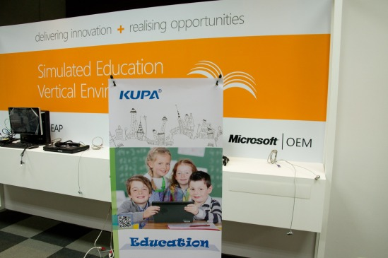 KUPA Education Demonstration at Microsoft event